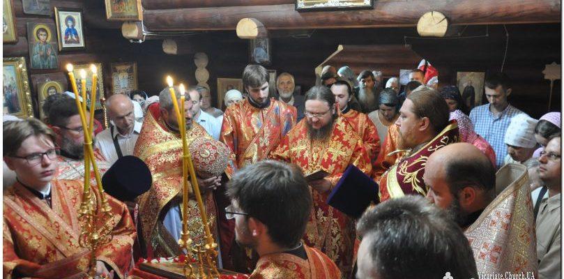В день 100-летия убиения Царской семьи архиепископ Боярский Феодосий совершил Литургию престольного праздника в храме Оболонского района г.Киева