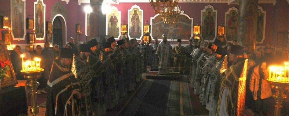 Состоялись соборная Литургия и общее говение духовенства Оболонского благочиния